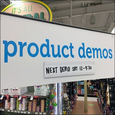 Product Demos in Pet Food Feature