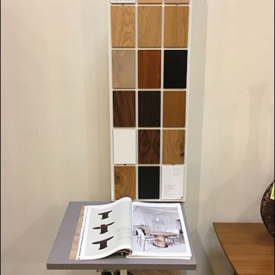 Skovby Asymmetric Catalog And Samples Stand