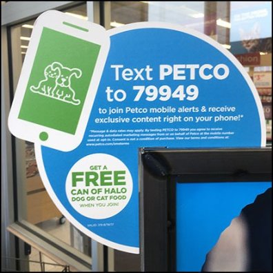 Text For Free Pet Food Promotion