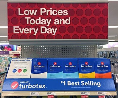 Turbotax's Early Endcap Merchandising