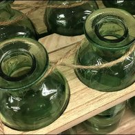 Twine-Tied Antique Glass Bottle Carriers