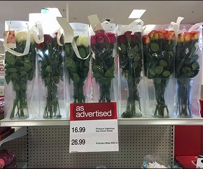 Valentines Day Rose Endcap Lineup