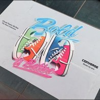 Bold is Better Neon Floor Graphic by Converse