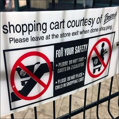 Boscov's Branded Shopping Cart Rules and Regulations Feature