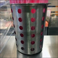 Coffee Shoppe Perforated Metal Utensil Holders