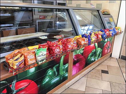 Deli Case Snack Rack Open Wire Sidecar