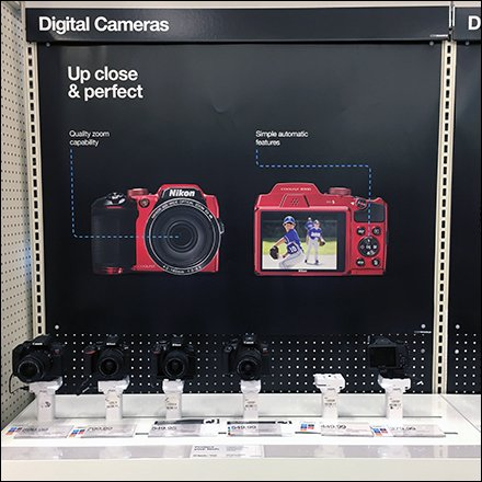 Digital Camera In-Line Display Billboarding