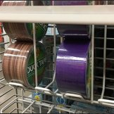 Gravity-Feed PowerWing For Duck Tape Rolls