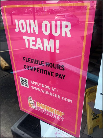Coffee Shoppe QR Code For Employment