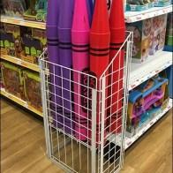 Giant Crayon Bulk Bin Organization