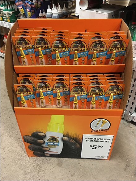 Gorilla Brush And Nozzle In-Aisle Corrugated Display