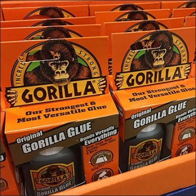 Gorilla Glue Original In-Aisle Point-of-Purchase Feature