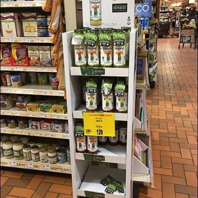 Organic Real Brewed Tea Display is Honest