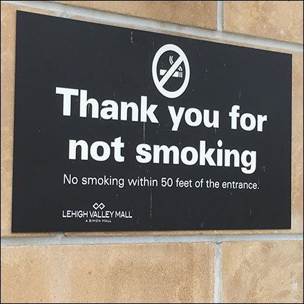 Lehigh Valley Mall No Smoking Within 50 Feet Feature