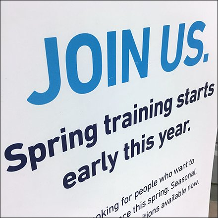 Lowes Store Fixtures - Early Spring Hiring Corrugated Plastic Sign