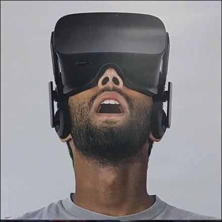 Endcap Billboard Display For Oculus Headset
