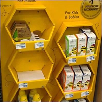 POPON Zarbees Hexagonal Display Feature