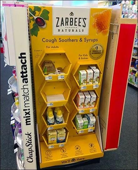 Zarbees Naturals Hexagonal Branded Display