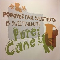 Popeyes Pure Cane Sugar Branded Art