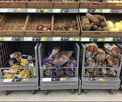 Roll-Under Produce Dolly For Walmart
