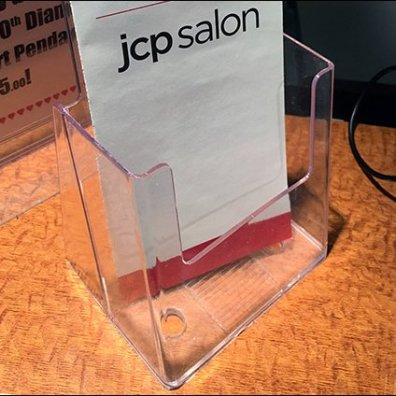 Salon Service Menu Acrylic Holder Square