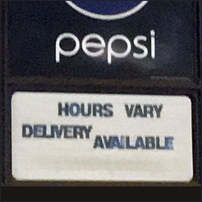 Branded Store Hours Vary, But Delivery Available