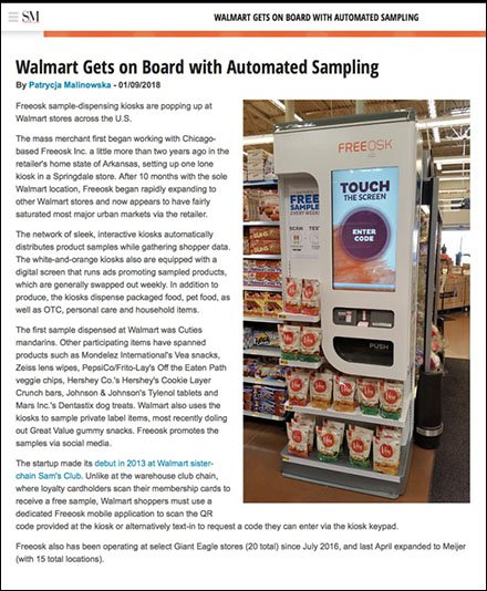 Walmart Implements Freeosk Automated Sampling
