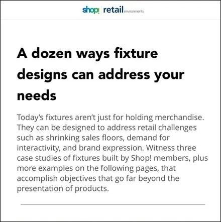 How Fixture Design Addresses Retail Needs