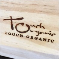 Logo Branded Fixtures - Touch Organic Wood Tray Outfitting