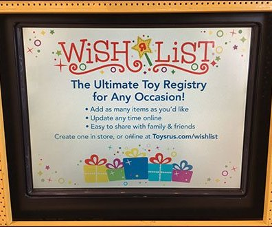 Freestanding Baby Registry Kiosk Display