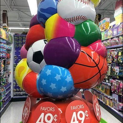 Ball Dump Tower Bulk-Bins Party Favors