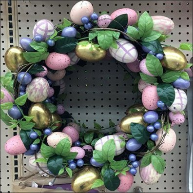 Easter Wreath Display Hook For Pegboard