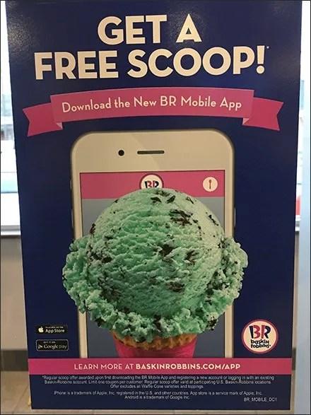 Free Ice Cream Mobile App Door Decal