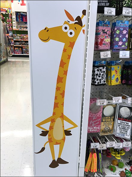 Geoffrey Giraffe Wing-Wall Island Fixture
