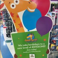 Birthday Club Freestanding Sign Invitation