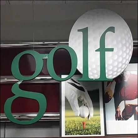 Golf Department Branding Feature