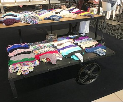 Wheeled Table Display by Hanky Panky Panty