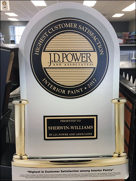 Sherwin-Williams Retail Fixtures - J.D.Power In-Store Customer Satisfaction Award