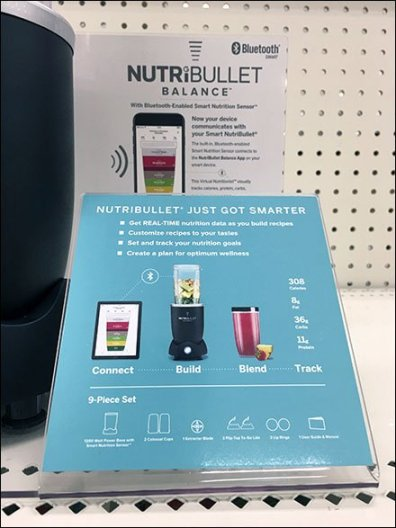 Lonely NutriBullet Negative Space Display