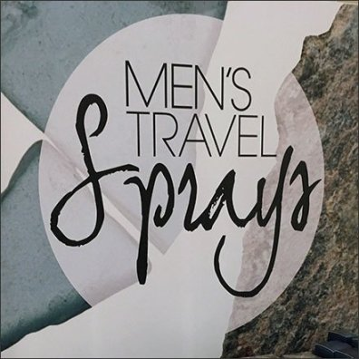 Men's Miniature Travel Size Sprays Square2