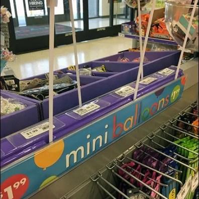 Cashwrap Queue Mini Balloons Lineup