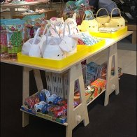 Sawhorse Trestle Table Display For Easter