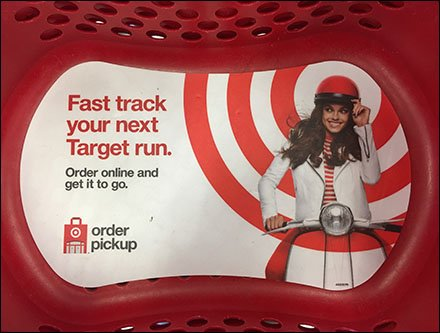 Online Order Pickup Shopping Basket Advertising