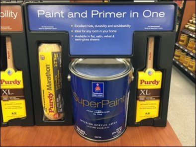 Paint Definition Endcap Display by Sherwin Williams 3