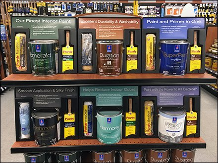Paint Category Definition Endcap by Sherwin Williams
