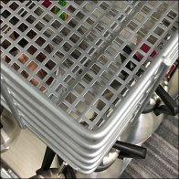 Perforated Metal Floor Deep Slatwire Rack Aux