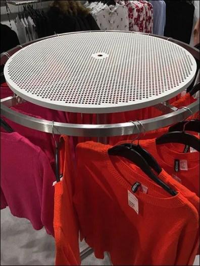 Perforated Top For Circular Apparel Hangrail