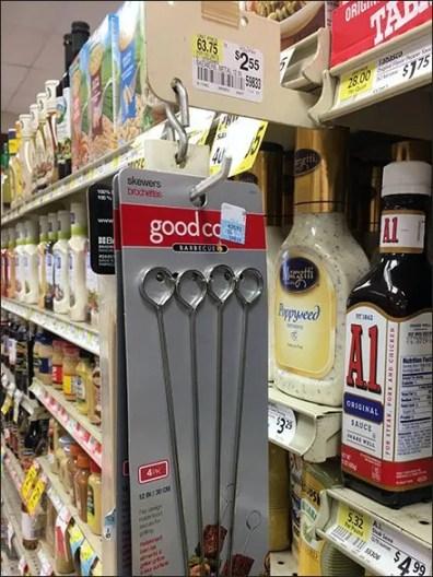 Grilling Skewers By Peg Strip Merchandiser