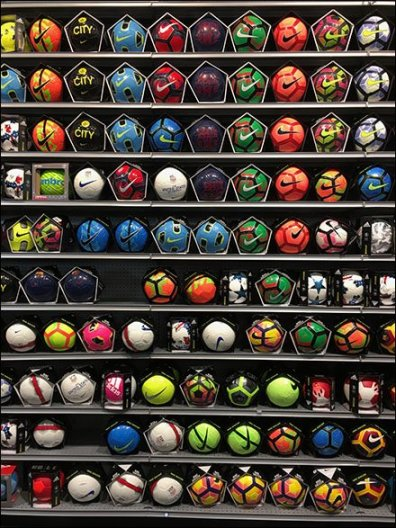 Wall of Balls Sporting Goods Merchandising