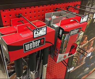 Weber Branded Dimpled Perforated Metal Pegboard